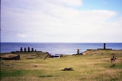 880617 a018 Easter Island (rona.h) Tags: june 1988 statues easterisland rapanui cloudnine