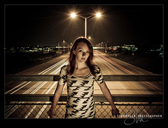 Alex - Long Light *Explored* (Sean Molin Photography) Tags: longexposure portrait urban chicago cute alex girl car modern contrast dark hair star illinois highway overpass september highschool redhead trail aurora i80 schoolpictures seniorpictures lightroom seniorportraits classof2010 nikond700 seanmolin wwwseanmolincom