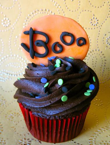 boo edible fondant halloween cupcake topper
