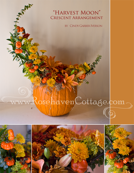 """Harvest Moon"" Crescent Arrangement"