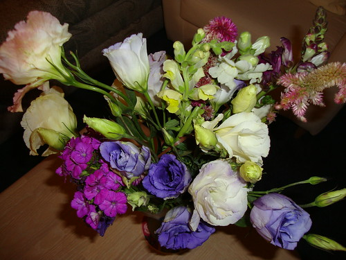 Remaining farmer's market flowers