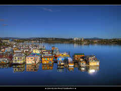 View from our Room (David Gn Photography) Tags: britishcolumbia fishermanswharf hdr houseboats victoriabc innerharbour wyndham twop photomatix worldmarkresort sigma1020mmf35exdchsm platinumpeaceaward canoneosrebelt1i