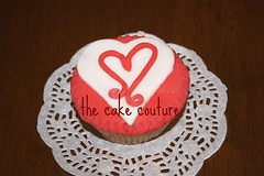 14. Heart Cupcake (The Cake Couture (is currently not taking any orde) Tags: love heart chocolate valentine cupcake vanilla  doha qatar                                 thecakecouture