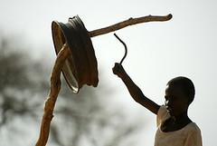 Boy Ringing Bell