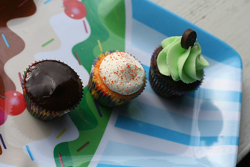boston cream, orange dreamsicle and grasshopper mini's