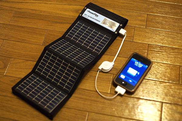 PowerFilm  USB + AA SOLAR CHARGER