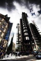 Modern World.. (jetbluestone) Tags: world building london modern busy future hdr lloyds flickrsbest