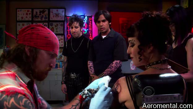 The Big Bang Theory S03E03 tatuajes