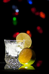 Gin and Bokeh with Lime (Mike Seigafuse) Tags: bokeh lime gin tonic strobist