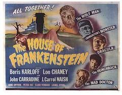 House of Frankenstein (1944) 2 (Paxton Holley) Tags: halloween monster vintage movie poster dracula frankenstein horror universal wolfman boriskarloff lonchaney johncarradine