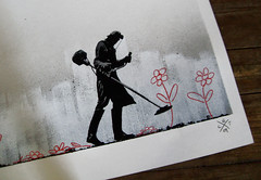 crayon rebel / paper (l.e.t.) Tags: street streetart flower pasteup art print graffiti design kid riot artwork stencil sticker screenprint paint artist gallery contemporary kunst wheatpaste exhibition pop spray popart silkscreen artshow let