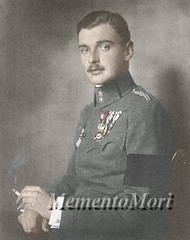 Archduke Maximilian Eugen of Austria (Grand Duchess Ekaterina Fyodorovna) Tags: photomanipulation vintage austria uniform european antique moustache colorized badges royalty archduke habsburg maximilianeugene wwismoking