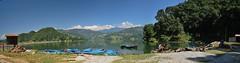 Begnas lake (Tifaine Bellon Photographe) Tags: nepal panorama montagne eau lac bateau paysage pokhara barque begnaslake