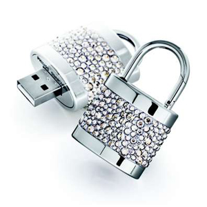 Stylish USB Drive in lock shape