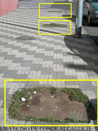 Foto denuncia, de la Calle Conde de Alcaudete Barrio Industrial (Un vecino de Conde de Alcaudete)