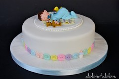 Baby Shower Cake ...... (abbietabbie) Tags: pink blue boy baby green yellow cake duck teddy buttons explore blanket mauve babyshowercake