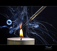 Planning to torture someone. ;D (Faisal | Photography) Tags: white black canon photography candle smoke explore burn soul l usm frontpage f28 ef ef2470mmf28lusm faisal 2470mm canoneos50d manfrotto190xprob faisal|photography