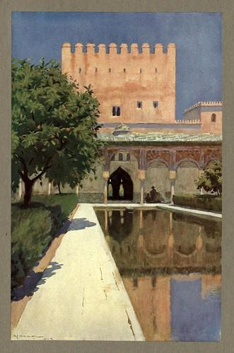 013-La Alhambra-patio de los mirtos-An artista in Spain 1914- Michael Arthur C.