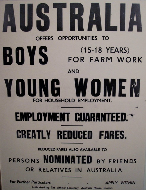 Melbourne 43 - Poster at the Immigration museum by Ben Beiske