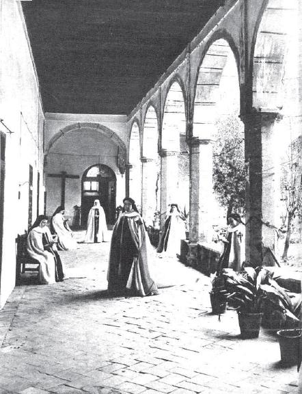 Toledo, Convento de Santa Fe, claustro bajo, 1935 Foto Rodríguez