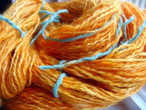 Kool-Aid dyed Handspun Yarn