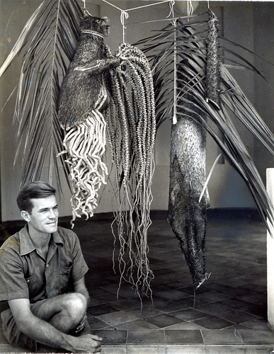 Hugo Curran with Oncosperma specimen