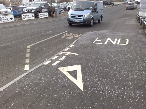 Stupid cycle lane