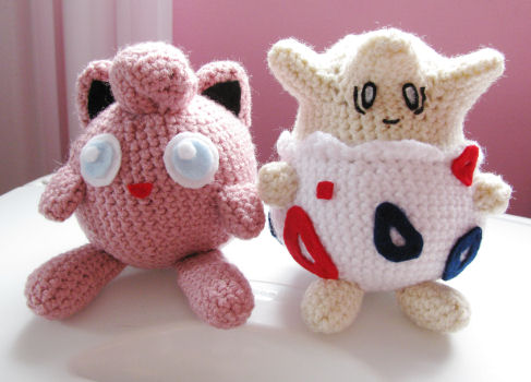 Jigglypuff and Togepi Plushies