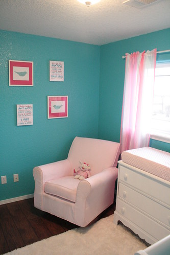 The Sweetest Nursery DIY Show Off ™ DIY Decorating and  ~ Quarto Rosa Com Azul