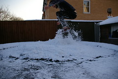 Winter is AWESOME. (smdoc) Tags: christmas winter snow cold ice beard jump trampoline surrey lanky sweetair