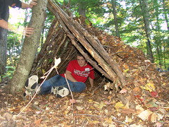 Outdoor education, wilderness survival, shelters