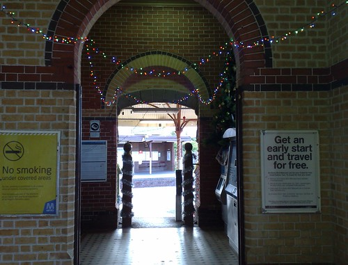 Brighton Beach Station Christmas decorations
