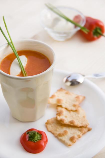 Zuppa Peperoncini dolci e Mascarpone