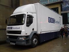 daf lf in glasgow outside the concert hall (WesternSMT) Tags: man scotland tv glasgow bbc scania daf stv