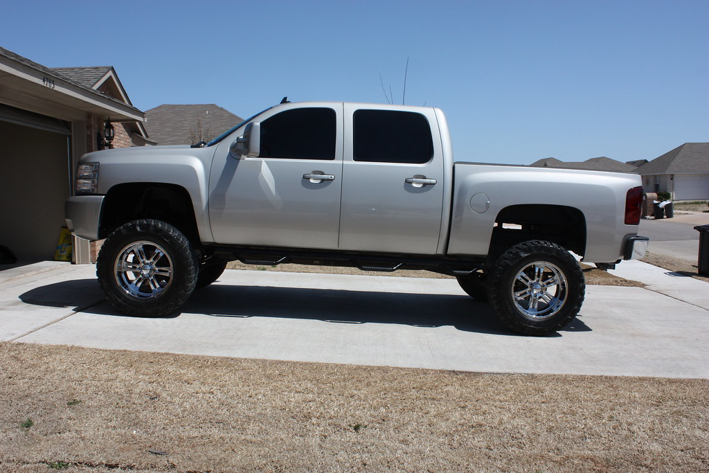 silver silverado lifted images - photo #29