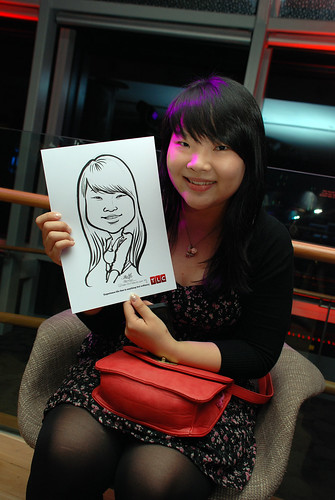 Caricature live sketching for TLC - 15