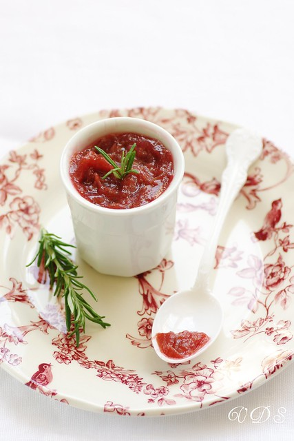 Rhubarb and rosemary jam