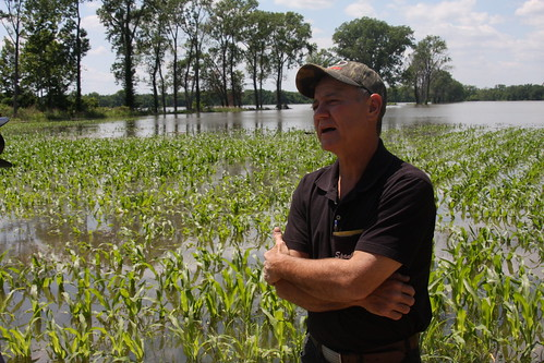 S.E. Felter worked these flooded fields as a teen. Now, the Adams County supervisor is hoping the water recedes quickly from the inundated agricultural community.