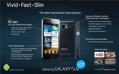Samsung Galaxy II coming soon