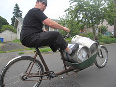 Cirque du Cycling_3 (METROFIETS) Tags: green beer bicycle oregon garden portland construction paint nw box handmade steel weld coat transport craft cargo torch frame pdx custom load cirque woodstove builder haul carfree hpm suppenkuche stumptown paragon stp chrisking shimano custombike cargobike handbuilt beerbike workbike bakfiets cycletruck rosecity crafted 4130 bikeportland 2011 braze longjohn paradiselodge seattlebikeexpo nahbs movebybike kcg phillipross bikefun obca ohbs jamienichols boxbike handmadebike oregonhandmadebikeshow nntma hopworks metrofiets cirqueducycling oregonmanifest matthewcaracoglia palletbike oregonframebuilder seattlebikeshow bikefarmer trailheadcoffee cargbikerace