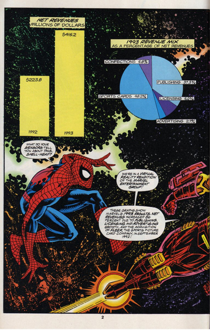 marvel 1993 annual report page 2