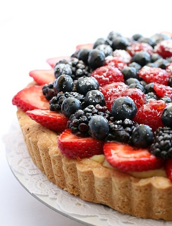 Tart with Mixed Berries and Frangipane Cream