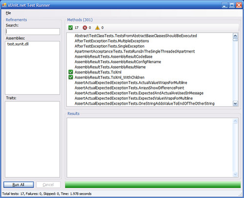 xUnit.net 1.5 CTP 2 GUI