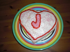 #282 Heart shaped cake