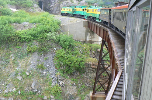 White Pass and Yukon Railroad on its Climb to the Klondike