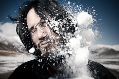 ::SNOW:: (Jeremy Snell) Tags: snow ice face ball beard pain fight hurt intense elements snowball 24mm fighting explode strobist