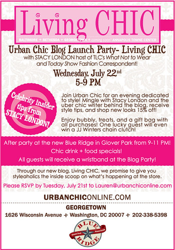 Living Chic Blog Launch Invite