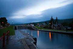 [Scotland] Highland - Fort Augustus Locks (Julien Chaudet) Tags: longexposure blue mountains night clouds canon eos 350d lights scotland dusk wide sigma wideangle highland locks 1001nights 1020 digitalrebelxt hoya cokin nd400 longueexposition fortaugustus gnd sigma1020mmf456exdchsm ndgrad zpro skyascanvas nationalgeographicexplorer