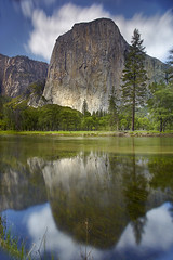 El Capitan Sky - Yosemite National Park, California (PatrickSmithPhotography) Tags: california longexposure travel wallpaper vacation sky usa reflection nature water grass rock pine canon landscape geotagged waterfall paradise sierra cedar yosemite granite 5d elcapitan monolith ribbonfalls mkii mercedriver