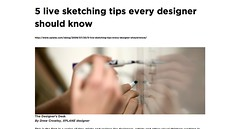 The visual thinking weblog » 5 live sketching tips every designer should know_1249007128246